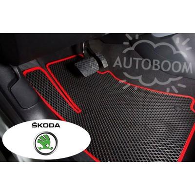 Автомобильные коврики EVA для Шкода / Skoda (Ромб)