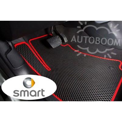 Автомобильные коврики EVA для Смарт / Smart (Ромб)