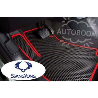 Автомобильные коврики EVA для Санг Йонг / SsangYong (Ромб)