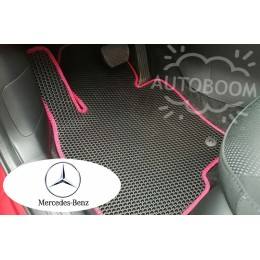 Автомобильные коврики EVA на Мерседес / Mercedes (Соты)