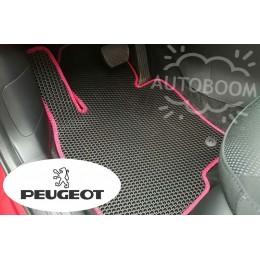 Автомобильные коврики EVA на Пежо / Peugeot (Соты)