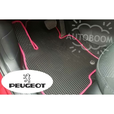 Автомобильные коврики EVA для Пежо / Peugeot (Соты)