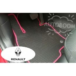 Автомобильные коврики EVA на Рено / Renault (Соты)