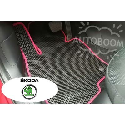 Автомобильные коврики EVA для Шкода / Skoda (Соты)