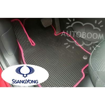 Автомобильные коврики EVA для Санг Йонг / SsangYong (Соты)