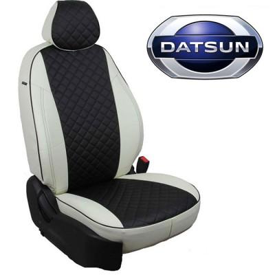 Чехлы на сиденья из экокожи Ромб для Datsun