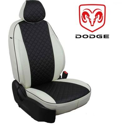 Чехлы на сиденья из экокожи Ромб для Dodge