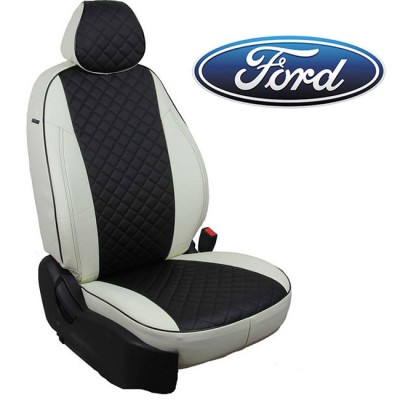 Чехлы на сиденья из экокожи Ромб для Ford