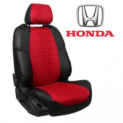 Чехлы на сиденья из алькантары для Honda