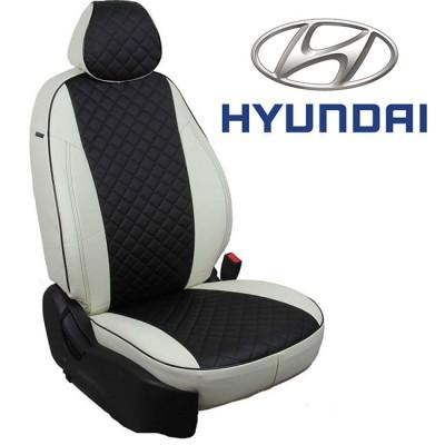 Чехлы на сиденья из экокожи Ромб для Hyundai