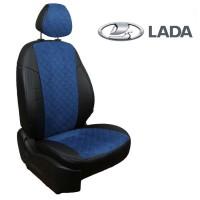Чехлы на ВАЗ - Лада (Lada) - Алькантара Ромб