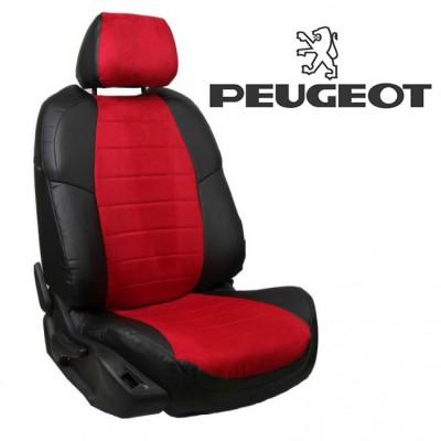 Чехлы на сиденья из алькантары для Peugeot