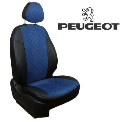 Чехлы на сиденья из алькантары Ромб для Peugeot