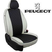 Авточехлы для Peugeot - Экокожа Ромб