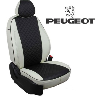Чехлы на сиденья из экокожи Ромб для Peugeot