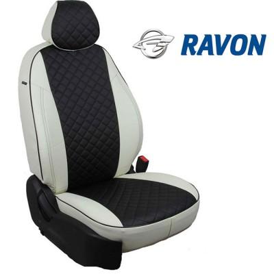 Чехлы на сиденья из экокожи Ромб для Ravon