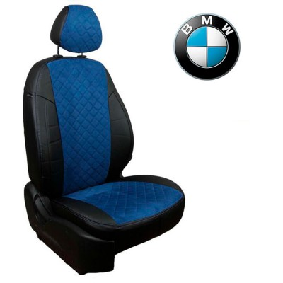 Чехлы на сиденья из алькантары Ромб для BMW