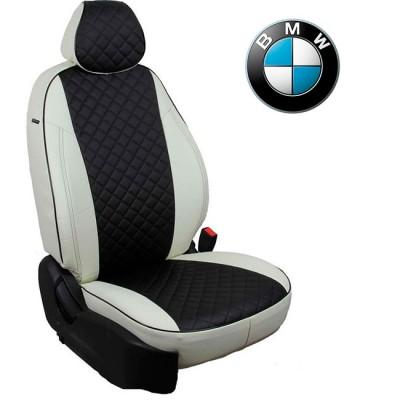 Чехлы на сиденья из экокожи Ромб для BMW