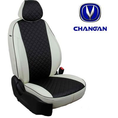 Чехлы на сиденья из экокожи Ромб для Changan