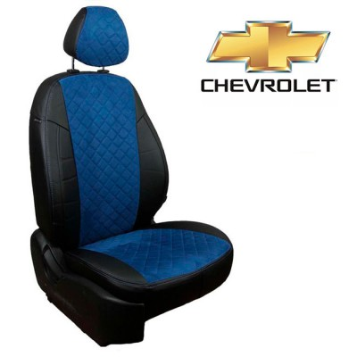 Чехлы на сиденья из алькантары Ромб для Chevrolet