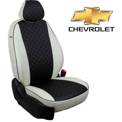 Чехлы на сиденья из экокожи Ромб для Chevrolet
