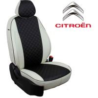 Чехлы на сиденья для Citroen - Экокожа Ромб