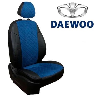 Чехлы на сиденья из алькантары Ромб для Daewoo
