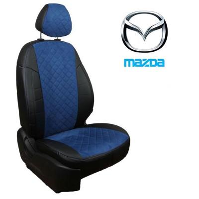 Чехлы на сиденья из алькантары Ромб для Mazda
