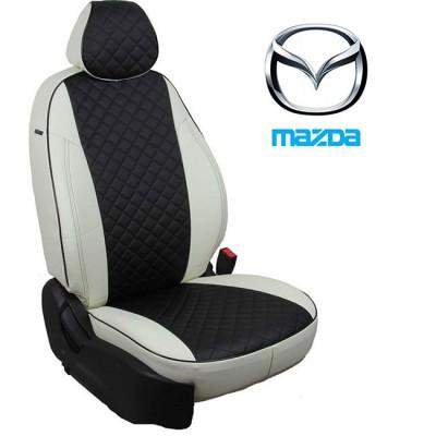 Чехлы на сиденья из экокожи Ромб для Mazda