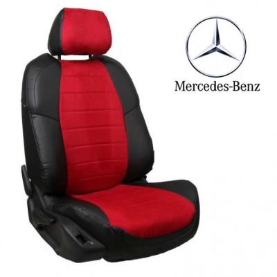 Чехлы на сиденья из алькантары для Mercedes