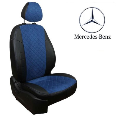 Чехлы на сиденья из алькантары Ромб для Mercedes