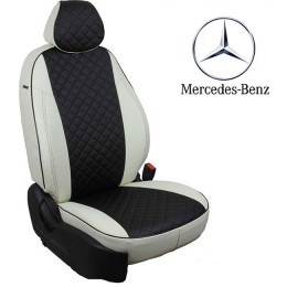 Авточехлы для Mercedes - Экокожа Ромб