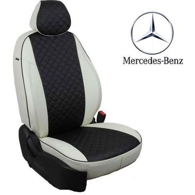 Чехлы на сиденья из экокожи Ромб для Mercedes