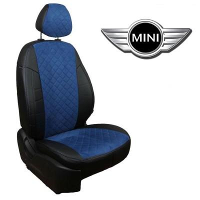 Чехлы на сиденья из алькантары Ромб для Mini