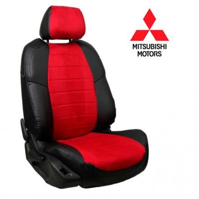 Чехлы на сиденья из алькантары для Mitsubishi