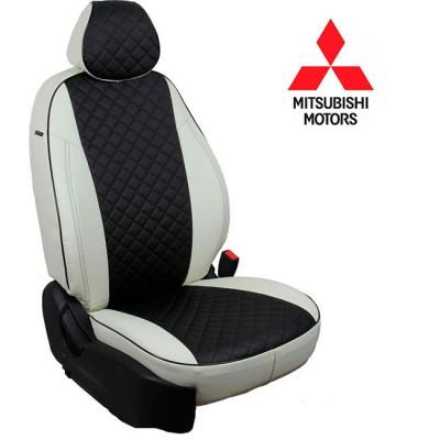 Чехлы на сиденья из экокожи Ромб для Mitsubishi