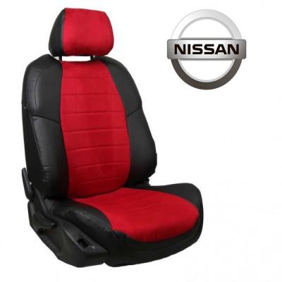 Чехлы на сиденья из алькантары для Nissan