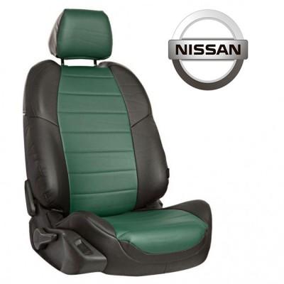 Чехлы на сиденья из экокожи для Nissan
