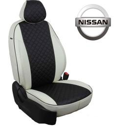 Авточехлы для Nissan - Экокожа Ромб