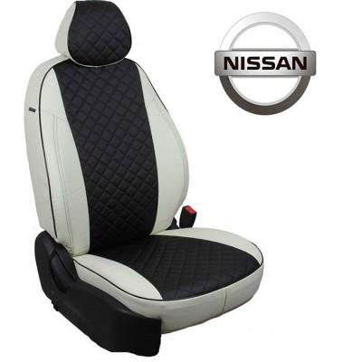 Чехлы на сиденья из экокожи Ромб для Nissan