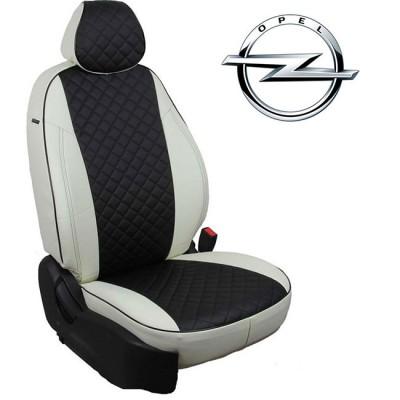 Чехлы на сиденья из экокожи Ромб для Opel