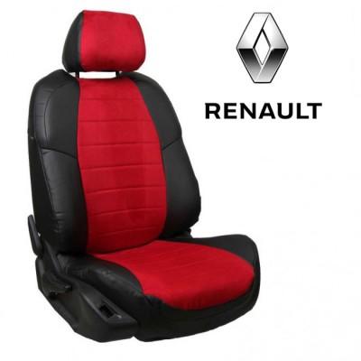 Чехлы на сиденья из алькантары для Renault