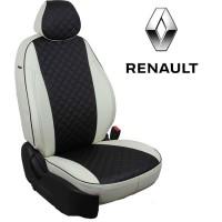Авточехлы для Renault - Экокожа Ромб