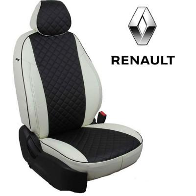 Чехлы на сиденья из экокожи Ромб для Renault