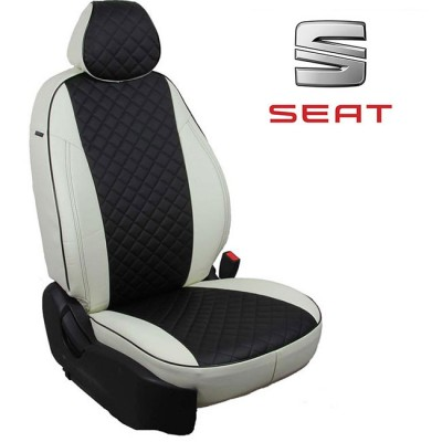 Чехлы на сиденья из экокожи Ромб для Seat