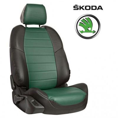 Чехлы на сиденья из экокожи для Skoda