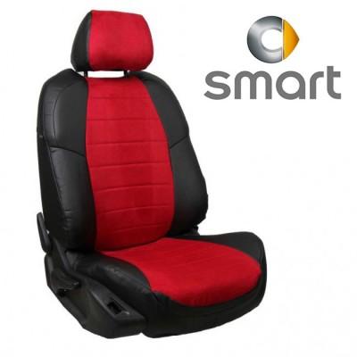 Чехлы на сиденья из алькантары для Smart