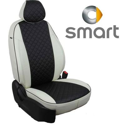 Чехлы на сиденья из экокожи Ромб для Smart