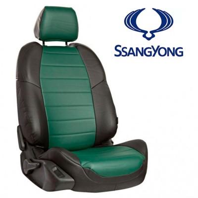 Чехлы на сиденья из экокожи для SsangYong