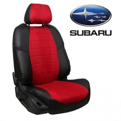 Чехлы на сиденья из алькантары для Subaru